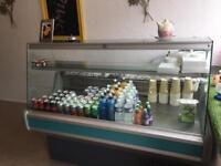 Serve over counter fridge