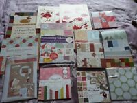 Christmas Card Craft. Selection of card making goodies inc paper, stamps and toppers