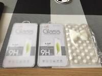 I phone 6plus case and 2 glass screen protectors