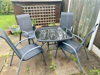 Garden Patio furniture Table & Chairs Set Outdoor Dining 4 seater