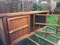 Large Rabbit Hutch & Cover
