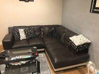 Real leather Corner sofa