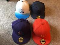 Various Fitted 7 1/4 flat peak caps for sale