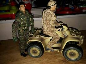 Toy army quad with figures