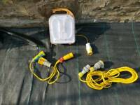 110v work light and cables