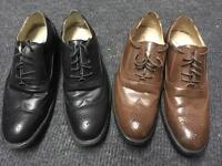 2 pairs of men's shoes size 9