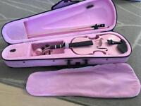 Pink 1/2 size violin