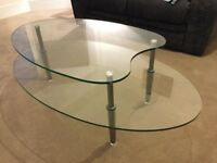 Glass coffee table. Collection only.