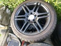 Mercedes 17 inch alloys newly painted new tyres