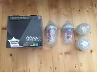 Tommee Tippee Antic Colic bottles x4