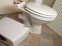 FREE white toilet , cistern, lid