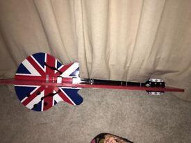 Boys marvel and Union Jack shelf guitar shelf