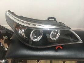 PAIR BMW E60 E61 PROJECTOR HALO ANGEL EYE HEADLIGHTS 2003-2007