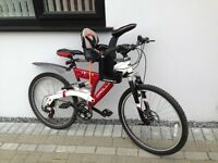 Apollo full suspension adult bike and front Wee-Rider
