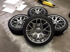 18 Gun Metal Wheels 5x112 and Winter Tires 245/40R18 (Audi Cars) Calgary Alberta Preview