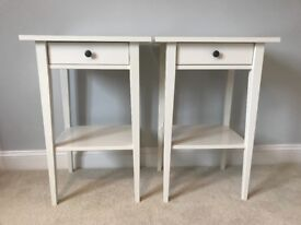 Two, White Hemnes Bedside Tables from IKEA