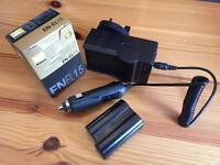 Nikon EN-EL15 battery and car charger