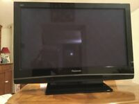 Panasonic TV with Goodmans Freeview/Digital TV recorder and Lodos DVD player.