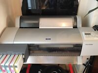 Professional Epson Stylus Pro 7600 printer with ink & paper in very good condition