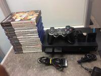 Sony Playstation 2 W/15 Games & 1x Controller