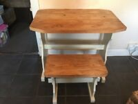 Farm house style table with bench