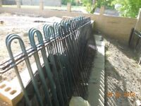 Steel fence panels with hooped tops