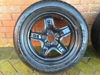"16"" Wheels & Tyres FULL SET 5mm - 6mm TREAD (Steel) 5 spoke FORD FOCUS & Mondeo C-max etc"