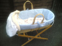 Moses Basket with Stand and Covers