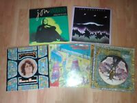 5 x vinyls - jon anderson song of seven / city of angels / olias /
