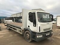 IVECO EUROCARGO 180E25 FLATBED/SCAFFOLDING LORRY, 18T, 2007REG , FOR SALE, NO VAT