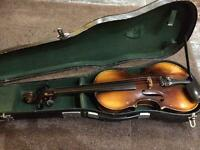 3/4 size violin and case. ( No bow)