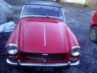 MG MIDGET 1965 IN NEED OF RESTORATION WITH 1275 ENGINE AND WIRE WHEELS