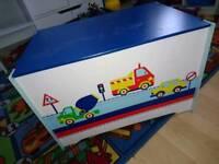 Childrens wooden toy chest