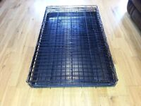Large folding down pet crate