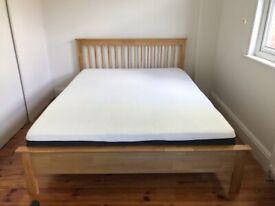 Kingsize Wayfair Bed and Emma Mattress Hardly Used