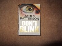 Paperback for sale DON'T BLINK by James Patterson 50p collect Exeter area