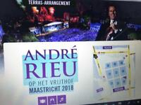 2 tickets for the Andre Rieu concert in Maastricht, Netherlands