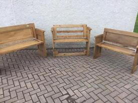 Handmade Up-cycled Wooden Benches