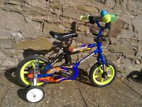 "Kids first size bike, 10"" wheels, good condition with stabilisers, £20"