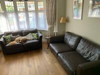 2 Leather sofa sale