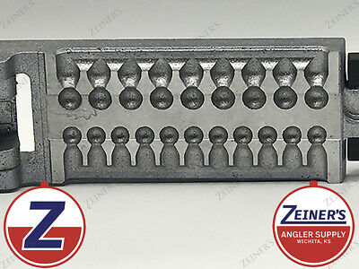 Split Shot Sinker Mold Removable with 20 Cavities and 1 32 1 16 3 32 1 8 Ounce