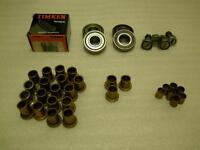 VARIOUS BALL/NEEDLE BEARINGS AND DRI-PLANE BRONZE SLEEVE BEARING
