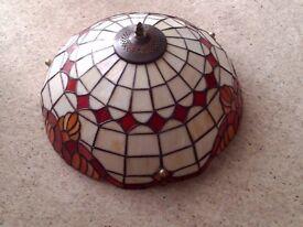 Large Tiffany Style Glass Lampshade