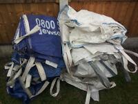 13 x BULK BAGS 1 TONNE JUMBO SACK GARDEN WASTE 1000kg HANDLES HEAVY DUTY BUILDERS