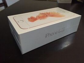 BRAND NEW SEALED APPLE IPHONE 6s ROSE GOLD 128GB UNLOCKED TO ALL NETWORKS -12 MONTHS APPLE WARRANTY