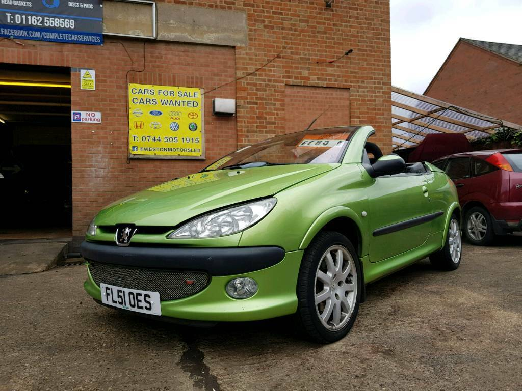 2001 peugeot 206 cc convertible in leicester leicestershire gumtree. Black Bedroom Furniture Sets. Home Design Ideas