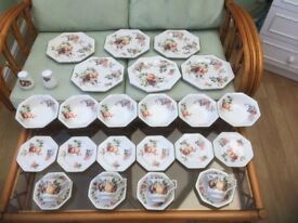summer fruits crockery 28 piece dinner tea and breakfast set