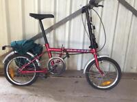SERVICED SMALL FOLDING BIKE- FREE DELIVERY TO OXFORD!