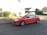 Peugeot 206cc, MOT May 17, leather, red, reliable
