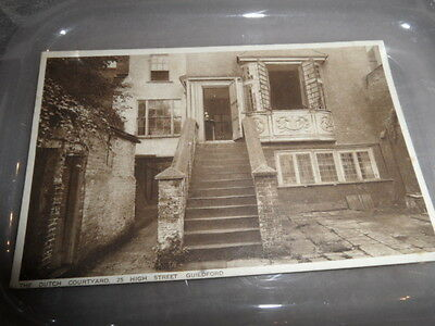 Guildford   25 High Street The Dutch Courtyard  VINTAGE POSTCARD  GOOD CONDITION